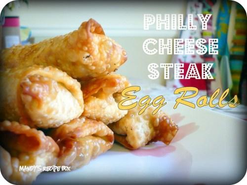Medium Of Philly Cheesesteak Egg Rolls