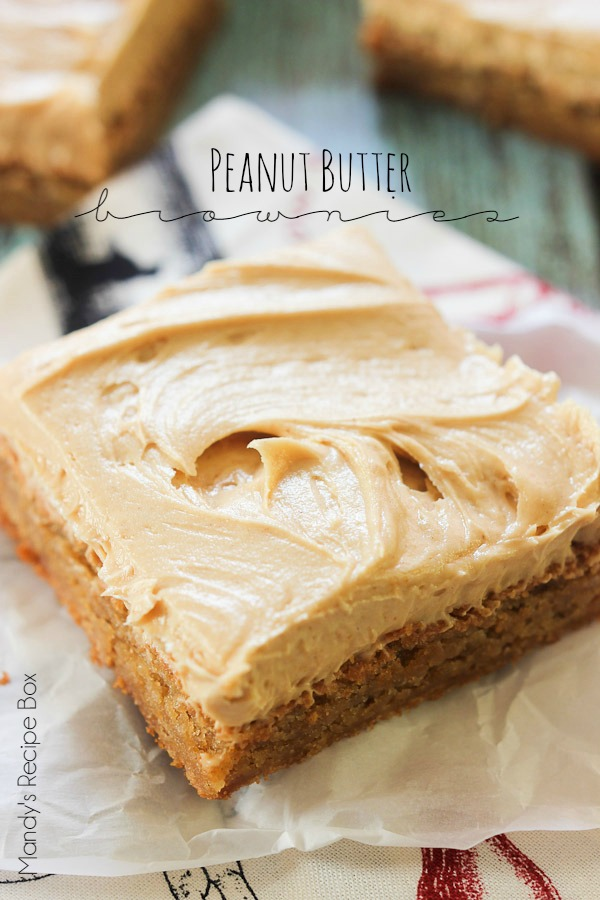 Peanut Butter Brownies are perfectly soft and chewy full of peanut ...