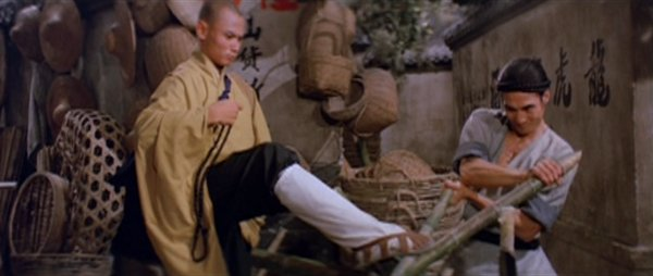 A screenshot from the bamboo stake fight.