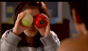 is to cover one's eyes with produce.