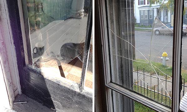 Replacing Broken Window Panes With Salvaged Glass! | Manhattan Nest