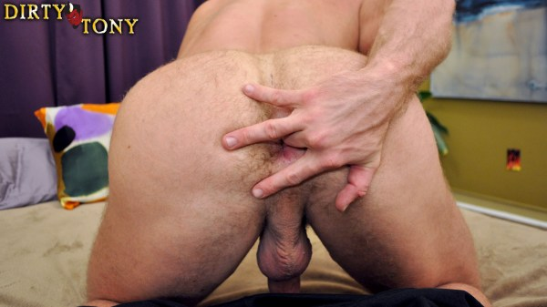 Shay Michaels in a casting couch blowjob for gay porn site Dirty Tony.