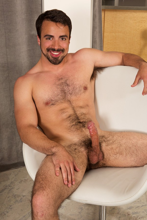 Eddie in a solo for gay porn site Sean Cody.