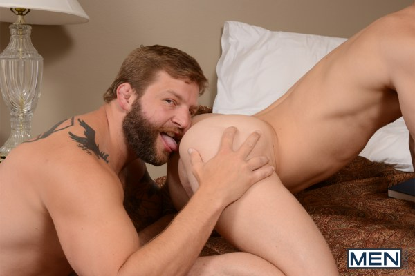 Colby Jansen fucks Tyler Sweet in Son Swap by gay porn site Drill My Hole.