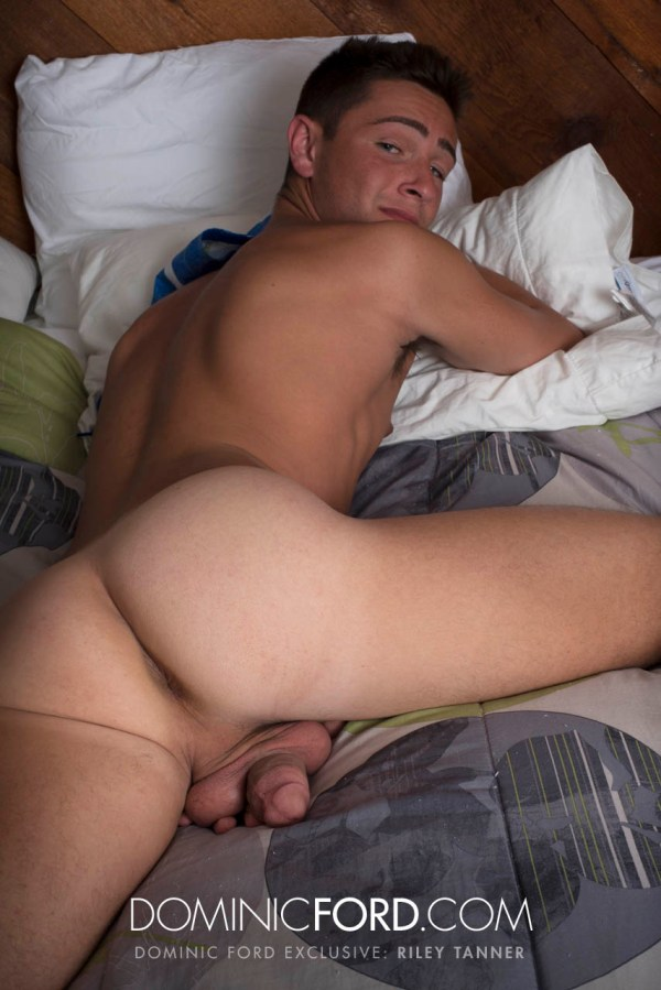 Riley Tanner shows off in a solo for gay porn site Dominic Ford.