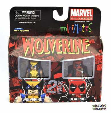 Diamond Select Deadpool z Wolverine Minimates