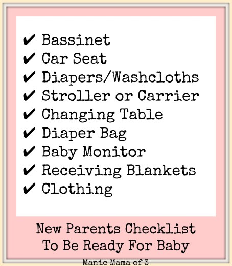 Be Ready For Baby Checklist
