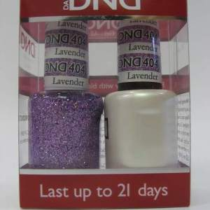 DND Gel Polish / Nail Lacquer Duo - 404 Lavender Daisy Star