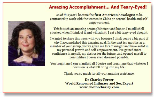 Charley Ferrer testimonial