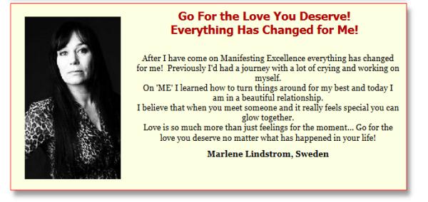 Marlene Lindstrom testimonial