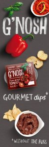 Putting the Gourmet into Dips – NEW G'Nosh Dippables with Grissini Sticks