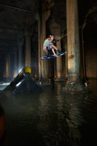 Wakeboarding the Basilica Cistern, Istanbul