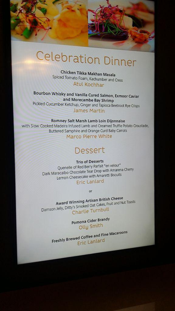 The Celebration Dinner on board Britannia