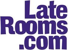 late Rooms dot com logo