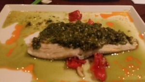 Steam sea bass with chopped chilli sauce