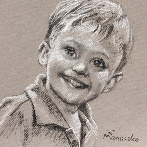 Alex Boy's charcoal sketch