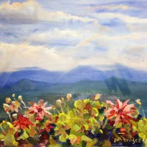 Mountain Floral Landscape