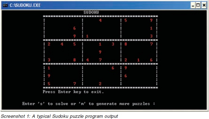 SUDOKU GENERATOR AND SOLVER IN C++ The road less box Blog