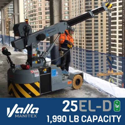 Valla 25EL-D - Rated at 1,990 lb capacity. Available to rent in North America.