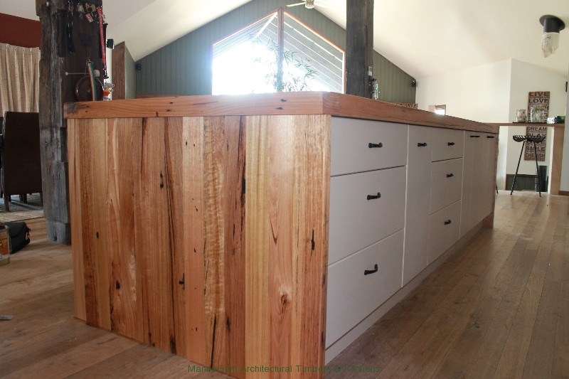 Reclaimed Kitchen Island Mannagum - Australian Recycled Timber Benchtops And Tables.