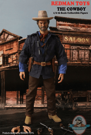 Red 1 Holsters 1 6 Redman Toys The Outlaw Cowboy Rm 005 Action Figure