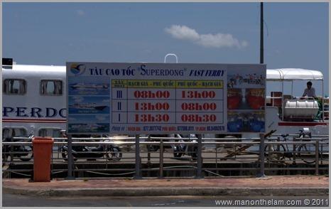 Superdong Ferry port sign, Rach Gia, Vietnam