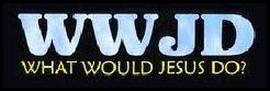 WWJD What Would Jesus Do bumper sticker