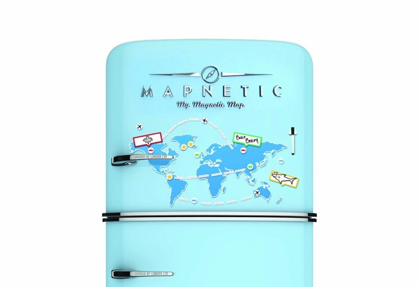 Mapnetic magnetic fridge map Christmas stocking stuffers for men gift ideas