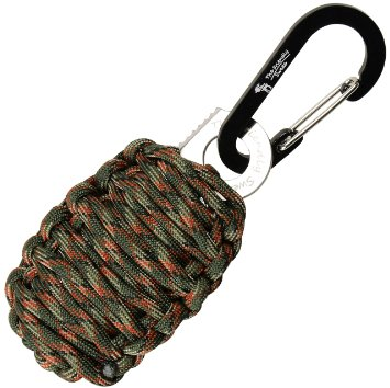 The Friendly Swede Carabiner Grenade Survival Kit with Sharp Eye Knife Christmas stocking stuffers for men