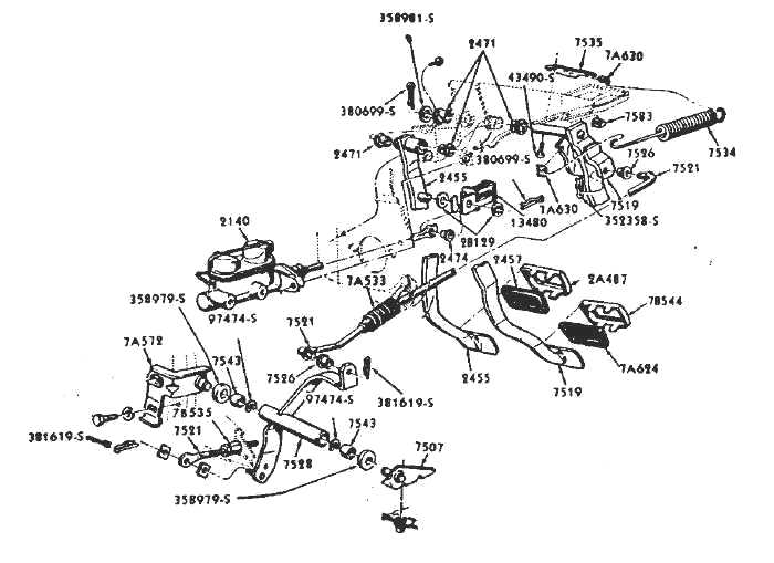 1968 ford mustang wiring diagram 1967 clutch linkage