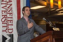 Jamie Hall '03 was the guest speaker for this year's Graduation Celebration.