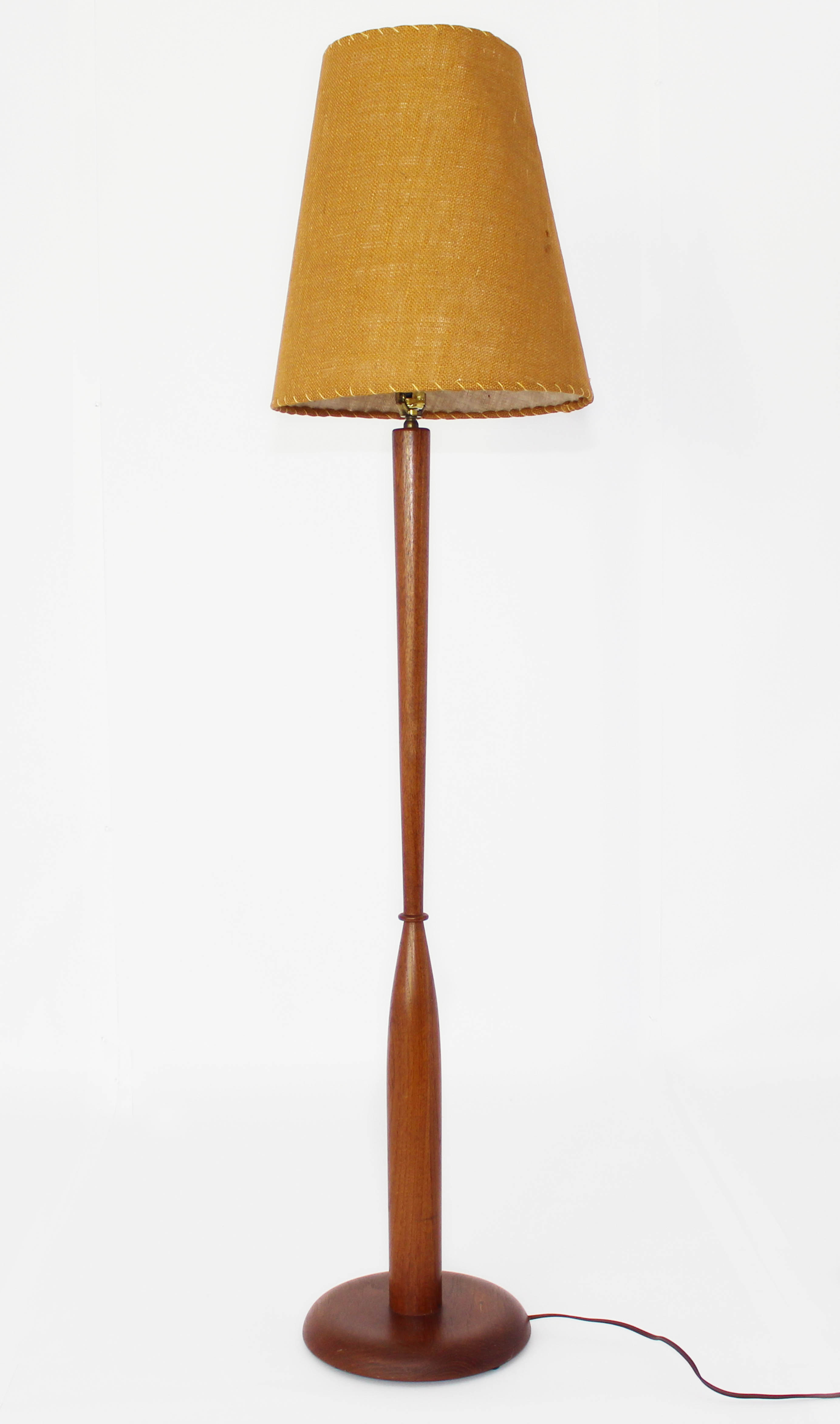 Retro Danish Mid Century Teak Floor Lamp Mansion Decor