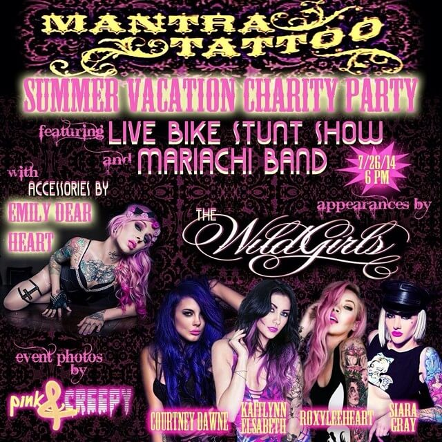 Emily Dearheart & The Wild Girls at Mantra Tattoo