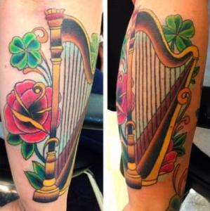 custom music tattoo