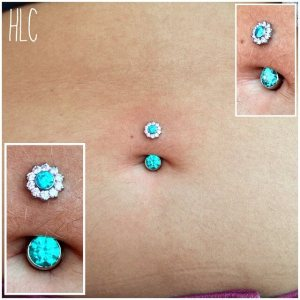 Navel piercings