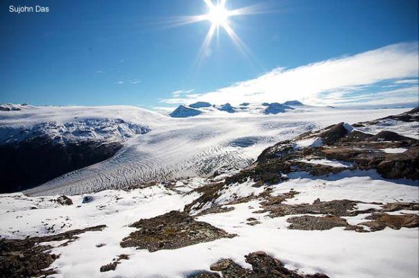 Campo de gelo Harding, Kenai Fjord National Park, Alaska
