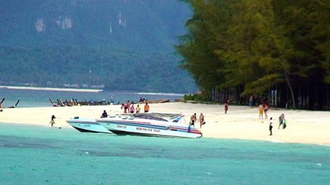 Praia em Phi Phi Island, na Tailândia