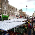 O movimentado Portobello road Market
