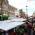 O movimentado Portobello road Market