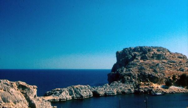 Lindos, na Ilha de Rodes, Grécia