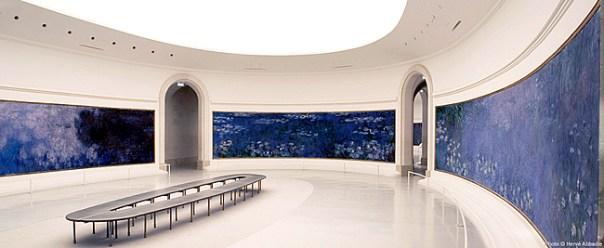 Sala das Nymphéas, no Musée de Orangerie