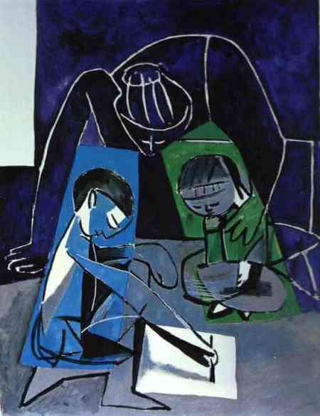 Pablo Picasso - Franèoise, Claude and Paloma