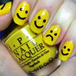 Smiley Face Nail Design