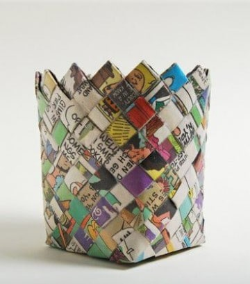 Weave a Road Map Basket Craft, Crafty and Origami