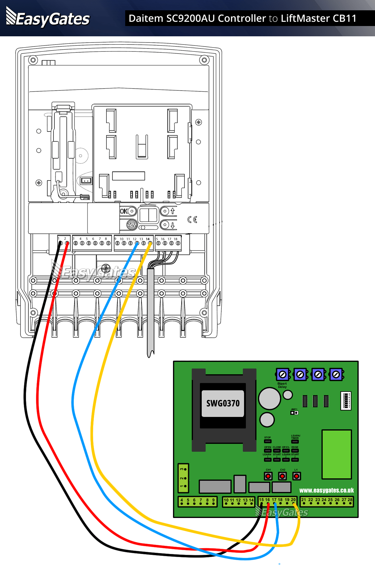 safety sensors wiring diagram