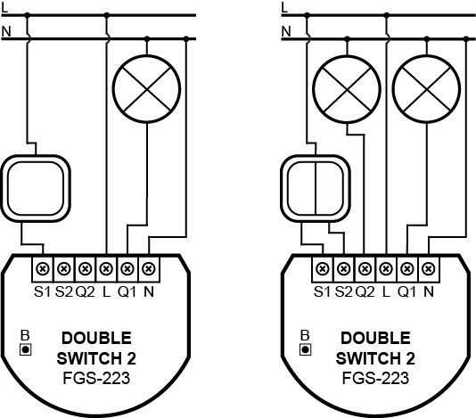 double switch wiring diagrams