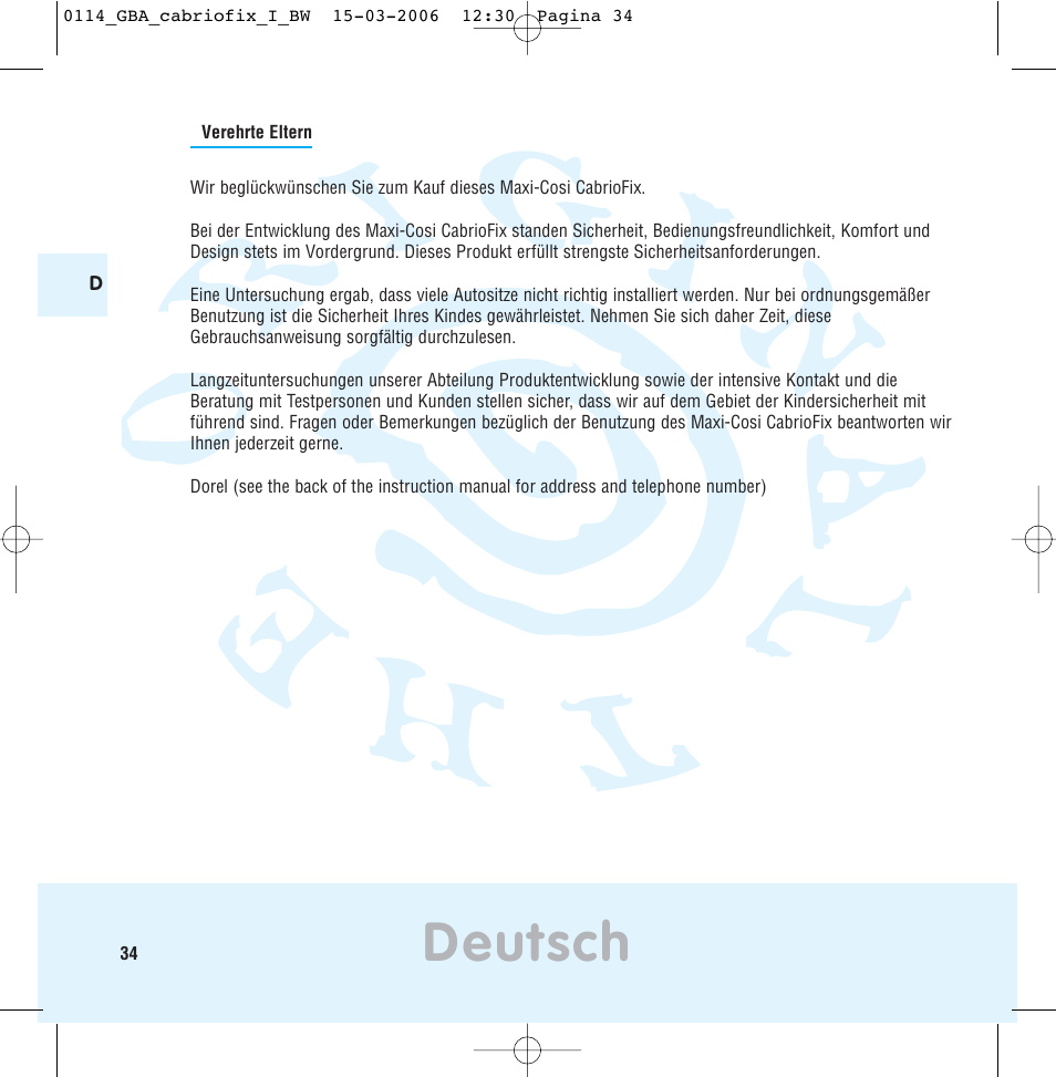 Sicher Safe Deutsch Maxi Cosi The Safe World Of I User Manual Page 30 98