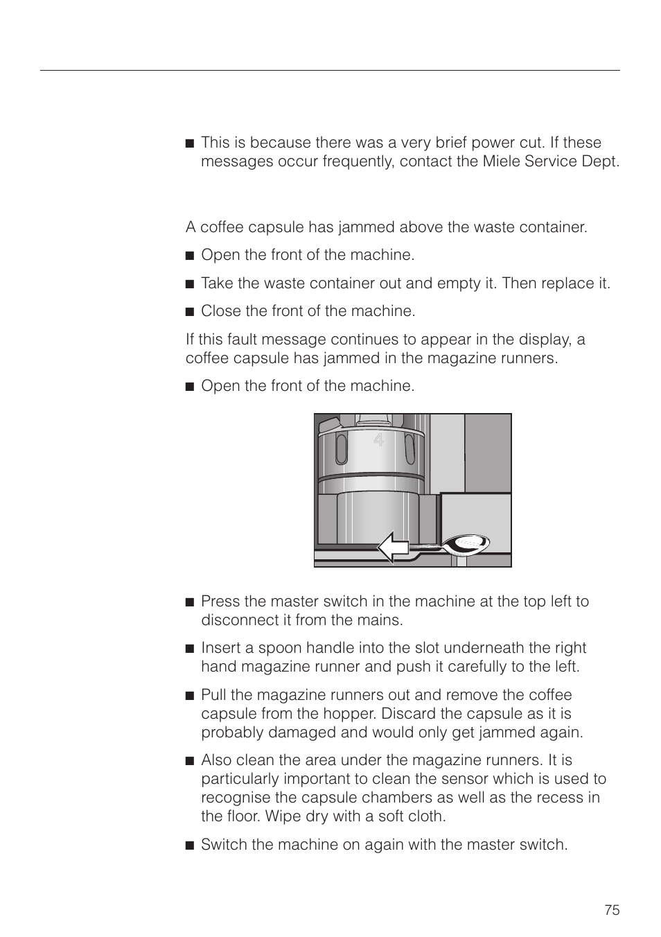 Miele Service Contact Problem Solving Guide | Miele Cva 2660 User Manual | Page