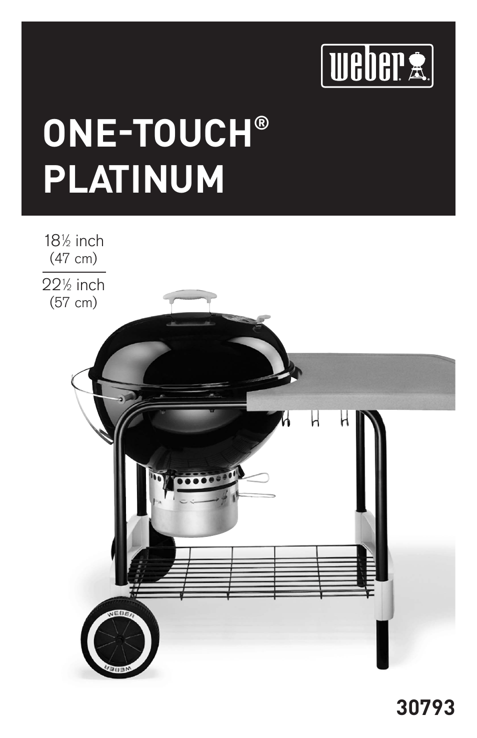 Weber Grill One Touch Weber 18 1 2 Inch One Touch Platinum 30793 User Manual 20 Pages