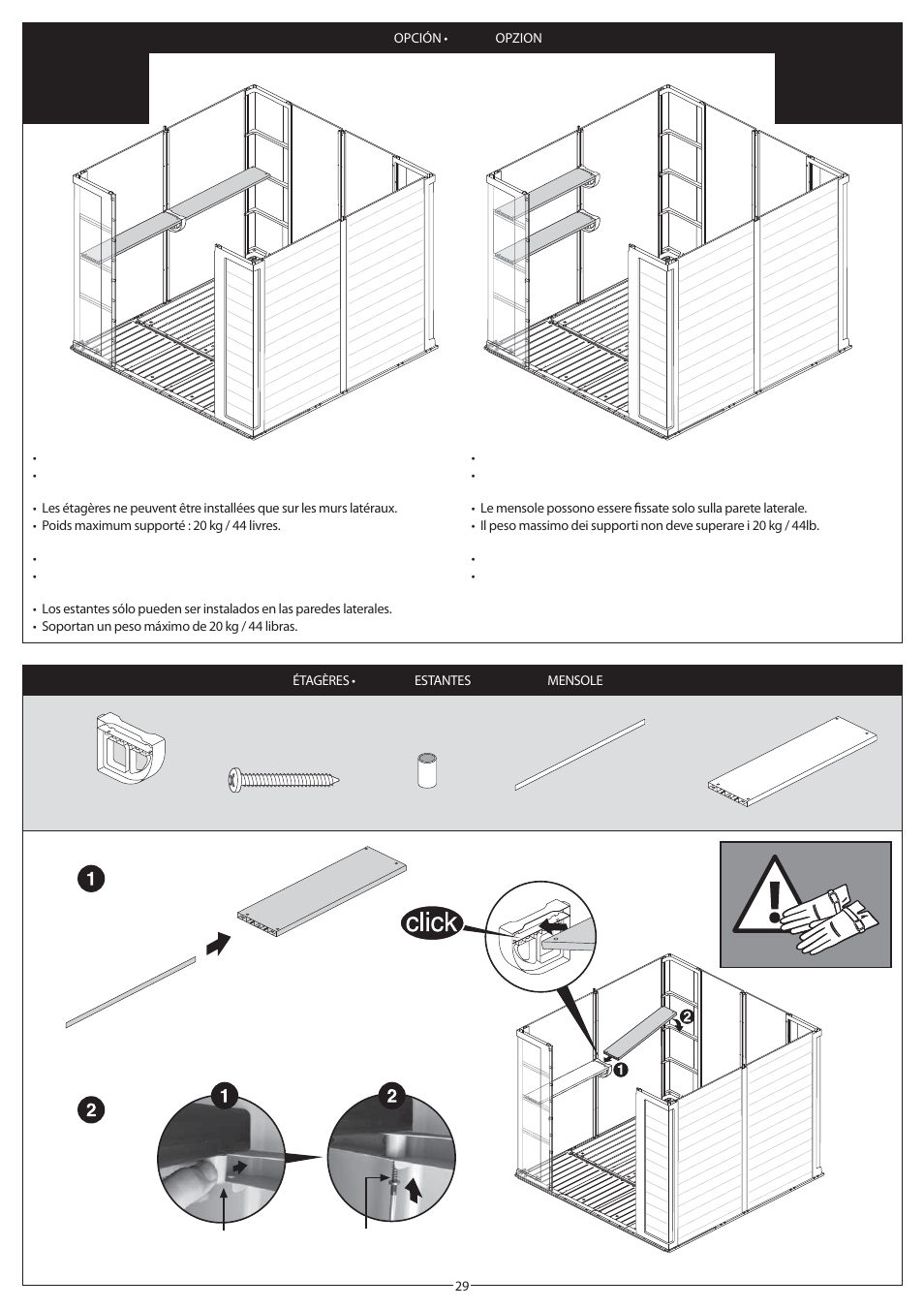 Kg A Libras Keter Apex 8x6 User Manual Page 29 32